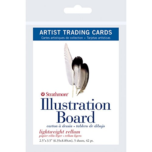 Strathmore 105-907 500 Series Illustration Board Artist Trading Cards, Lightweight Vellum, 2.5' by 3.5', 5 Sheets