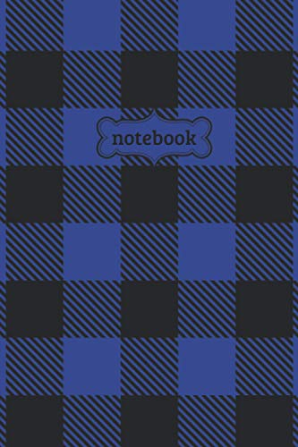 Notebook: Black Blue Buffalo Check Plaid Flannel Lumberjack Pattern Journal - Lined Journal & Diary for Writing Taking Notes (6