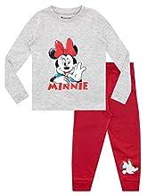 Disney Pijamas de Manga Larga para niñas Minnie Mouse Ajuste Ceñido Rojo 2-3 Años