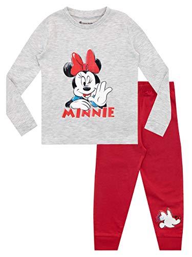 Disney Pijamas de Manga Larga para niñas Minnie Mouse Ajuste Ceñido Rojo 4-5 Años