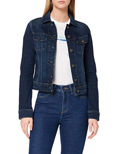 Lee Slim Rider Giacca in Jeans, Blu (Mean Streaks Kims), Small Donna