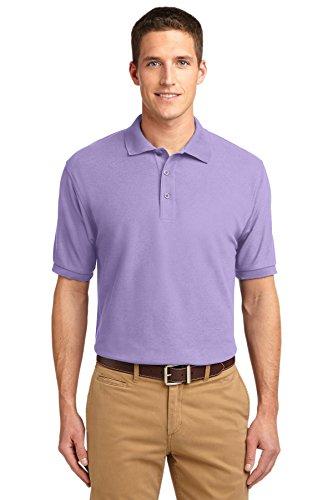Port Authority Men's Silk Touch Polo M Bright Lavender
