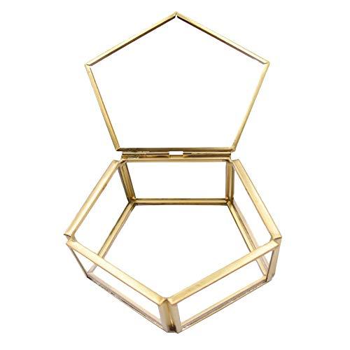 Ringschachtel, Geometrische Schmuck Box Transparent Glas Blume Zimmer Glas Box Ring Box Ehering Schmuck Box Blumen Glasabdeckung Innovative Dekoration Ornamente