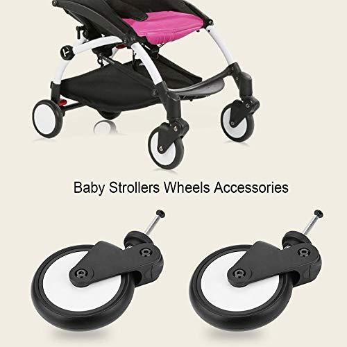 Ruedas traseras para cochecito, accesorios para cochecito, adecuado para bebé YOYO, YUYU, VOVO.