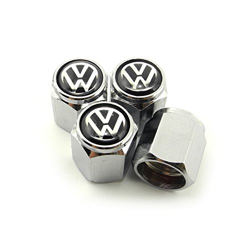 iDoood Tire Valve Caps for VW Volkswagen Silver