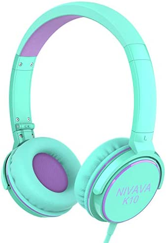 Nivava On Ear Headphones Wired Foldable Lightweight Adjustable On Ear Headset with 3 5mm Jack product image