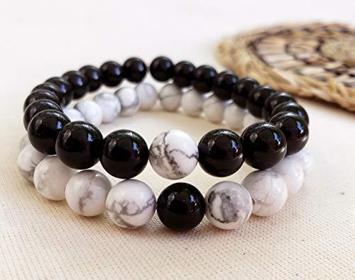 Pulseira Pedra Natural Cristal Delicada Yin Yang