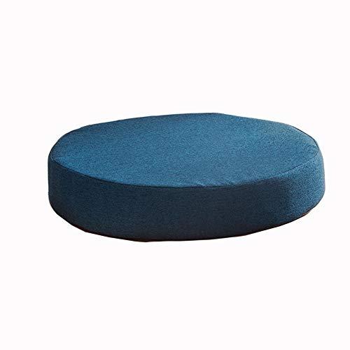 Almohadillas redondas para sillas de comedor, cocina, jardín, cojines gruesos, antideslizantes, para exteriores, cojines de asiento de oficina, lavables (45 x 45 x 5 cm), color azul oscuro