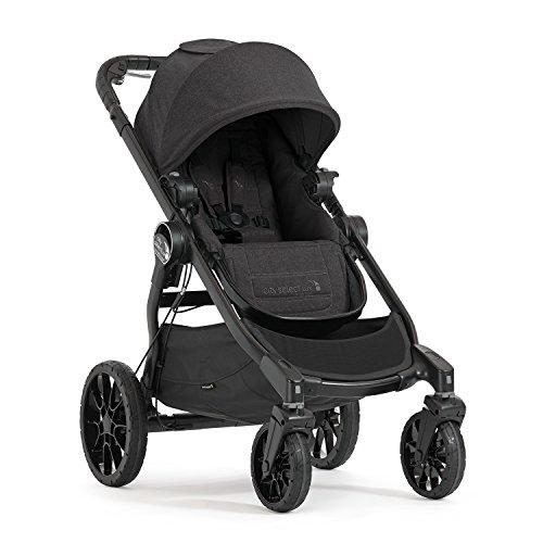 Baby Jogger City Select LUX Kinderwagen| einfach bis doppelt | Zusammenklappbarer und tragbarer | Granite (dunkelgrau)