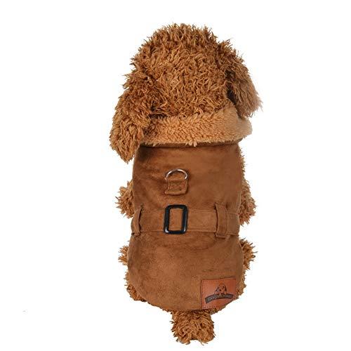 Stricken Hund Hoodie Pullover Haustier Katze Welpen Mantel Kleine Haustier Hund warme Kostüm Bekleidung Hundejacke mit Kapuze, Rosa, Wintermantel/Winterjacke
