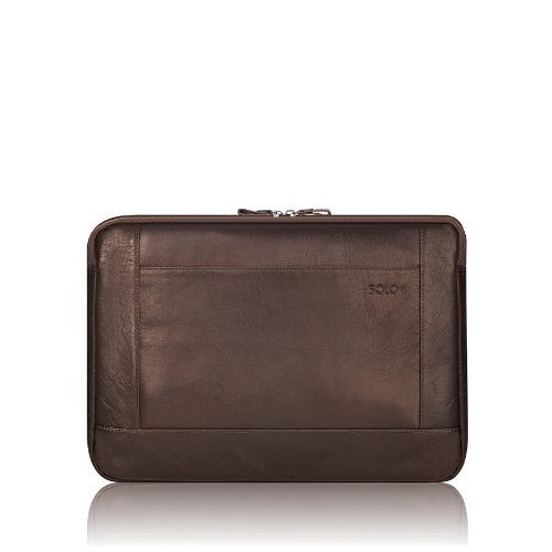 Solo New York 16 Inch Leather Laptop Sleeve, Espresso