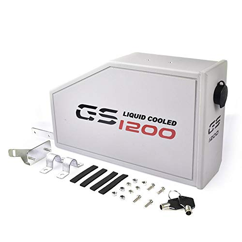 YakeHome Für R1200GS ADV Adventure Dekorative Aluminiumbox für BMW R1200GS LC Wasserkühler 2013-on Toolbox Passend