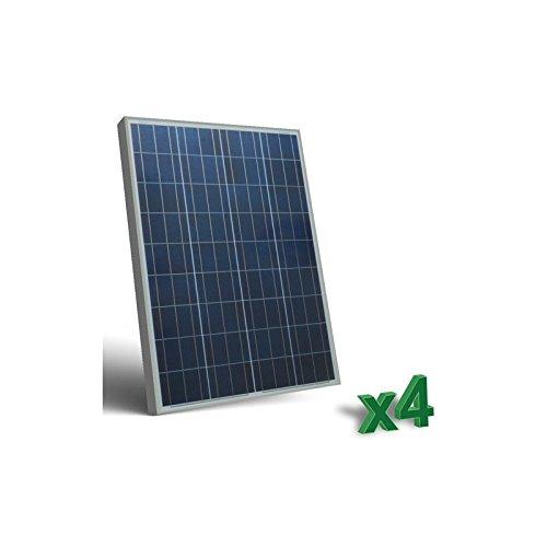 Peimar - Set 4 x 100W 12V Panneau Solaire Photovoltaique tot. 400W Camper Bateau Hutte - SET4-100