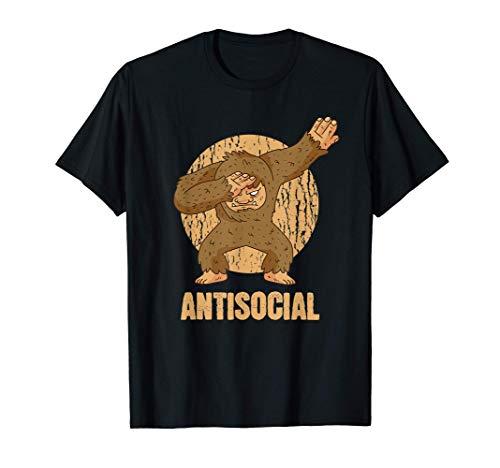 Pie Grande antisocial rozando a Sasquatch Camiseta