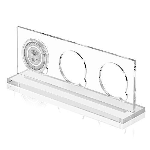 """PolymerRing Acryl Präsentationsbox für 3 x 10 Euro Münze mit Kapsel für """"In der Luft 2019, An Land 2020"""