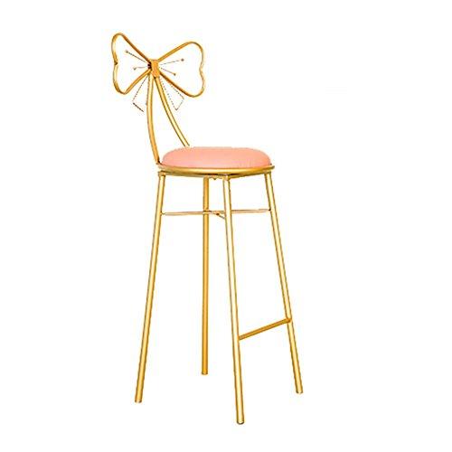 ZHyizi Hoge krukken, Barstoelen, Ergonomie Loft Nordic Minimalistische Industrie Stijl Iron Art Tuinstoelen Huishoudelijke Meubels Luxe Comfortabele Vlindervorm