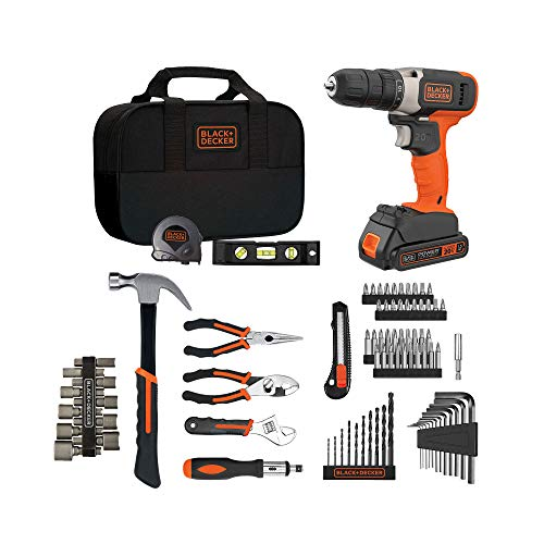 beyond by BLACK+DECKER Home Tool Kit with 20V MAX Drill/Driver, 83-Piece (BDPK70284C1AEV)