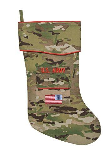Army Christmas Stocking Camouflage Fabric