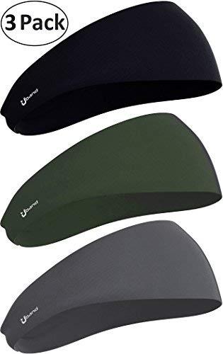 Self Pro Mens Headband 3PCS Guys Sweatband Performance Stretch, Moisture Wicking