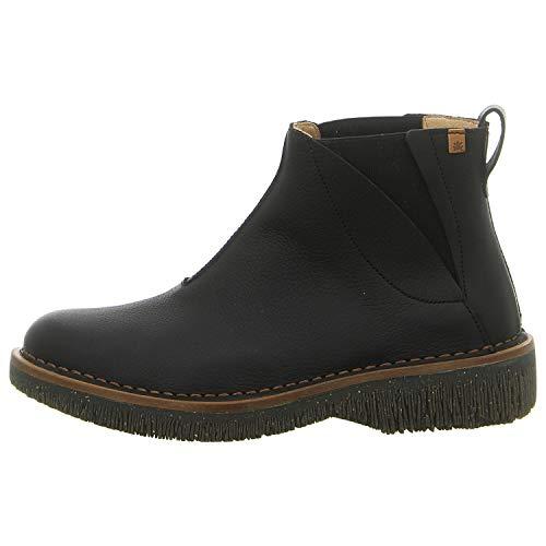 El Naturalista Damen Ankle Boots Volcano, Frauen Ankle Boots, elegant Women's Woman Freizeit leger Stiefel halbstiefel Bootie,Black,39 EU / 6 UK