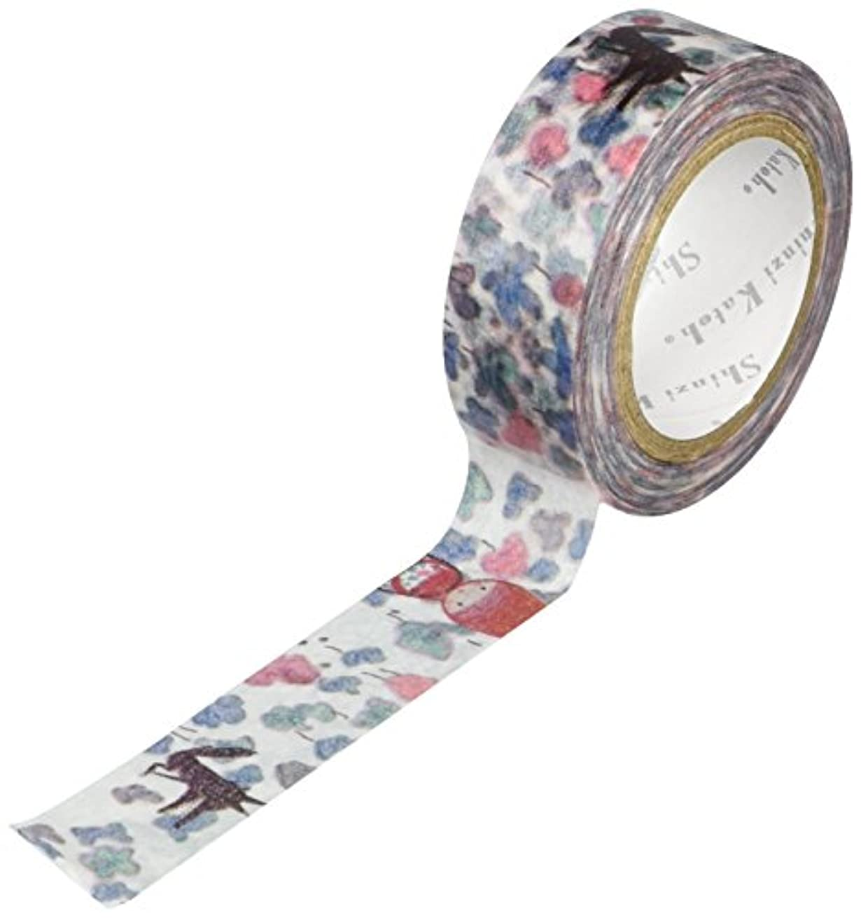 SEAL-DO Shinzi Katoh Washi Masking Tape, 15mm x 10m, Red Hood (ks-mt-10029)