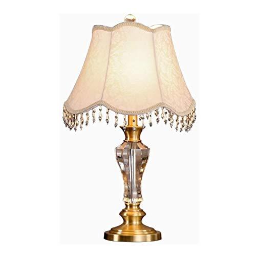 SPNEC Tela lámpara de Mesa, lámpara de cabecera del Estudio, lámpara de Cristal Decorativo de la Vendimia, la Tabla Decorativa de la lámpara