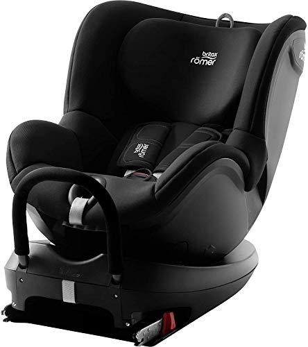 BRITAX RÖMER Siège Auto DUALFIX 2 R, Pivotant à 360° et Fixation ISOFIX, enfant de 0 à 18kg (Groupe 0+/1) de la naissance à 4 ans, Cosmos Black