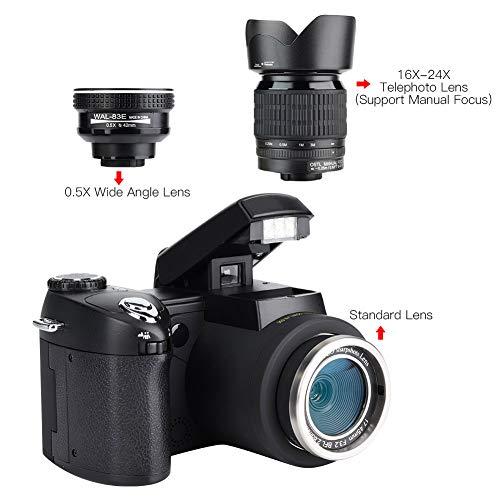 Cerlingwee Videocámara DV con Zoom Digital 8X, videocámara Digital para Selfies y Disparo Continuo para cumpleaños, Navidad, Vacaciones, Deportes
