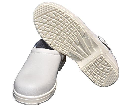 Emanhu Trading Antistatische Anti-Rutsch Stahlkappe Sicherheits-Schuhe SB Arbeitsschueh Clogs SB-E-A EN ISO 20345:2011 (44)