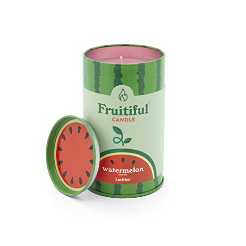 Luckies of London - Velas de fruta, diseño de sandía, color rojo
