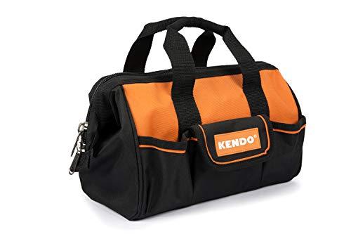 KENDO kleine Werkzeugtasche & Werkzeugbeutel - Volumen: 10 Liter - Maße: L32 - B17 x H20 cm - Universaltasche aus robustem 600D Oxford-Nylon - Tasche ohne Werkzeug