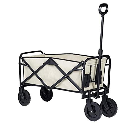 Z-SEAT Carro Plegable para Uso General, Carro de Viaje para Compras, Carro de Descarga para jardín con Bolsa de Almacenamiento, Carro para Uso General portátil para comesti