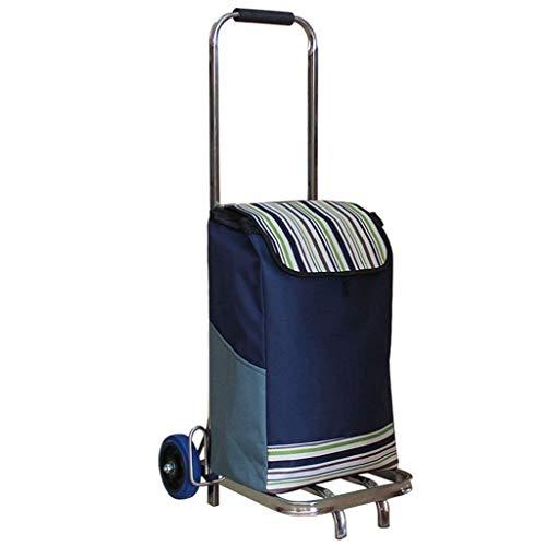 BSJZ Carrito de Compras multifunción Carrito de una Sola Rueda Carrito de Equipaje portátil de Acero Inoxidable Carrito Plegable Carga 75 kg Carros de Mano de almace