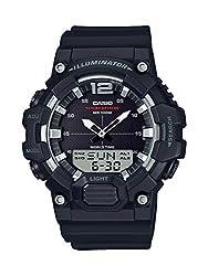 small Casio Classic Men's Quartz Resin Watch, Black, 27.78 (Model: HDC-700-1AVCF)