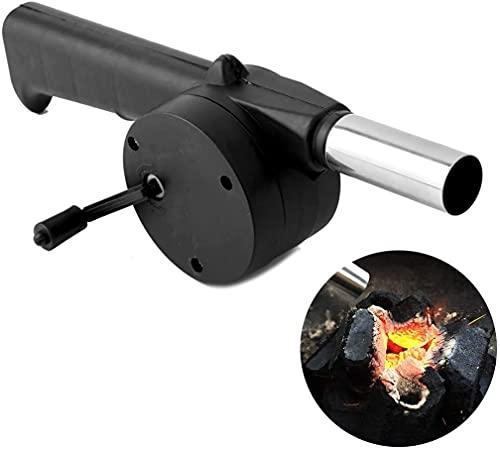 Mini ventilador de barbacoa Manual de arranque rápido de fuego portátil 9.6in/24,5...