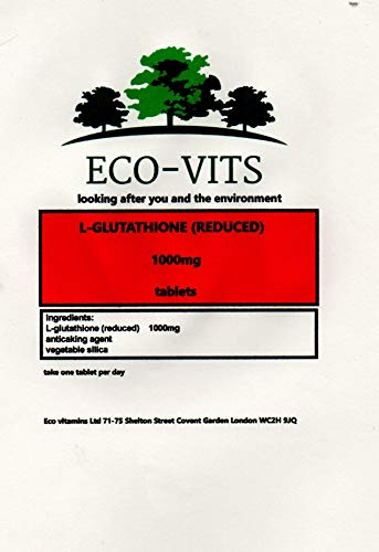 ECO-VITS L-GLUTATHIONE (Reduced) (1000MG) 30 TABS. Biodegradable Packaging. Sealed Pouch