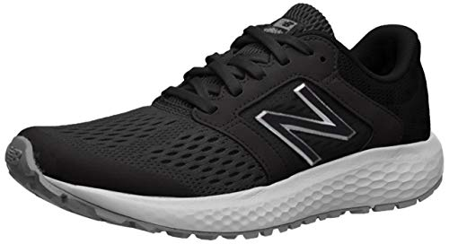 New Balance Women's 520v5 Cushioning Running Shoe, black/white, 7 B US