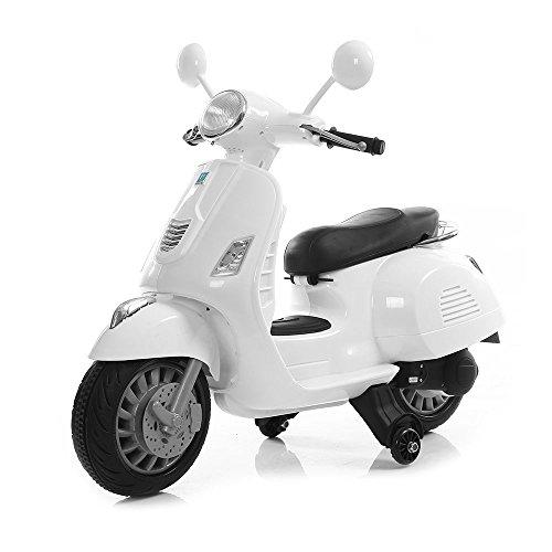 Mini Scooter Moto Happy Bianco 12V Per Bambini