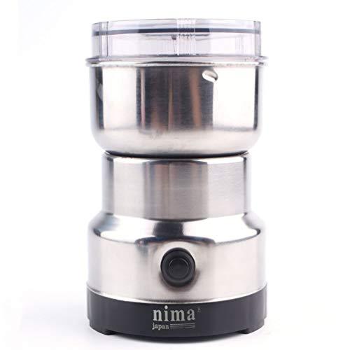 HETUI 220V elektrische Edelstahlmühle Fräsmaschine Kaffeebohnenmühle (Silber)