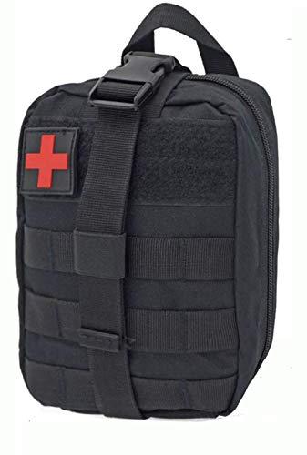 KuTi Kai Erste-Hilfe-Kasten-Tasche, Mehrzweck-Hüfttasche, taktische MOLLE-Erste-Hilfe-Kit, medizinische Tasche – Notfall-Survival-Reaktions-Tasche (schwarz)