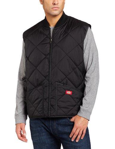 Dickies Men's Big Diamond Quilted Nylon Vest, Black, 3X