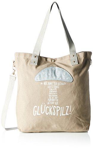 Adelheid Damen Glückspilz Einkaufstasche Shopper, Braun (Taupe 366 366), 44x39x10 cm