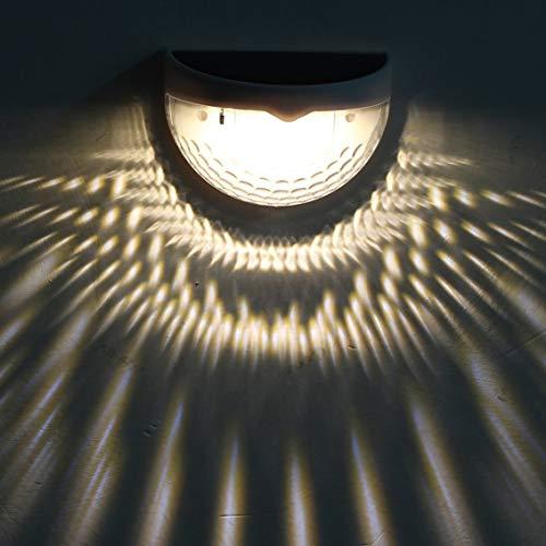 Solar-wandlamp halve cirkel hek licht decoratieve wandlampen met zonne-energie buitenverlichting / wit
