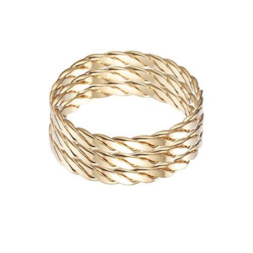 Infinity Knoten Ring 18K vergoldet Statement Ringe für weibliche