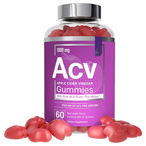 Apple Cider Vinegar Gummies from The Mother - All-Natural, Vegan ACV with Folic Acid and Vitamin B6 & B12 | by Essential Elements - 60 Count …