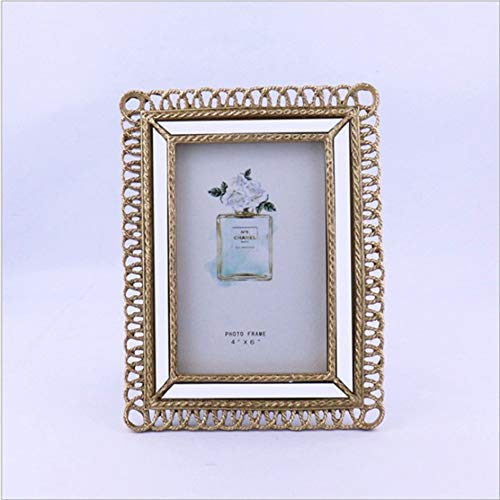 Fotolijst gedekte tafel, Europese retro gouden spiegellijst Franse neo-klassieke kleine, luxe tafel gedekte tafel hars tafelframe decoratie
