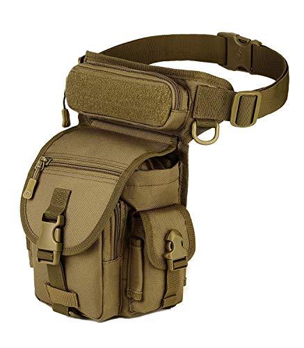 Yakmoo Taktische Militärische Beintasche Molle System Hüfttasche wasserdichte Gürteltasche Beinbeutel für Outdoors