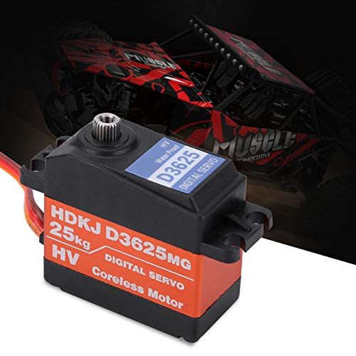 DAUERHAFT - Rodamientos dobles servo digital de 180 grados impermeables para 1/10 1/8 coche de carreras de camión corto