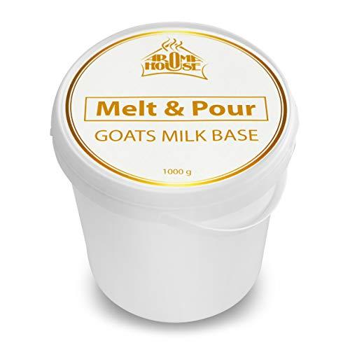 Melt & Pour Seifenbasis mit Ziegenmilch - 1000g / 1kg - Seifenbase - Seifenbasis für Seifenherstellung - Rohseife für Kreativ - Handgemachte Ziegenmilchseife - Naturseifen - Seifen Gießen - Hobby