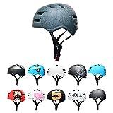 SkullCap® Casco BMX Bici y Casco Skate - Hombres Mujeres Niños y Niños, Design: Crack, Talla: L (58 – 61 cm)